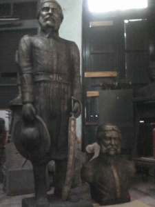 chacho busto y estatua
